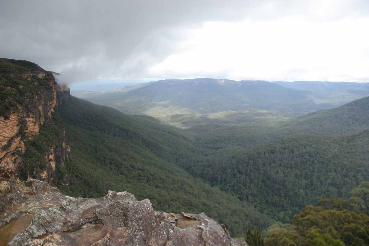 The weather momentarily cleared up enough for us to experience this vista from the Princes Rock Lookout