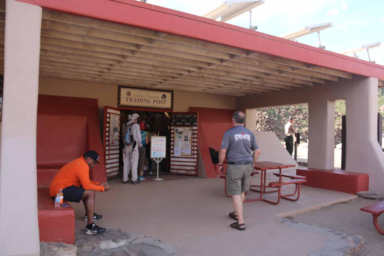Entrance to the Trading Post
