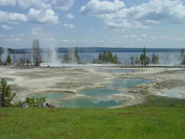 West_Thumb_Geyser_Basin_018_06222004 - Not far to the north of Grand Teton National Park was Yellowstone National Park with its geothermal features such as what's shown here at the West Thumb Geyser Basin