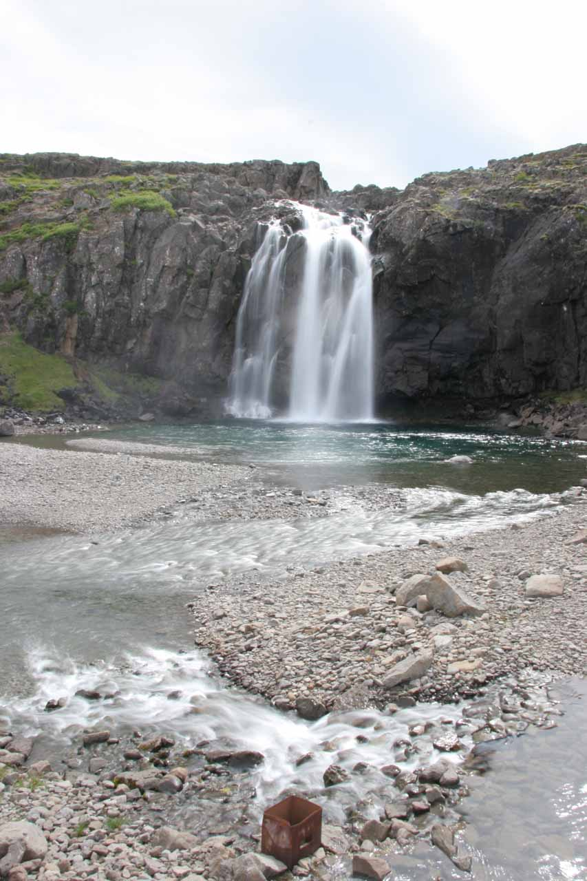 Another look at the attractive waterfall at Foss