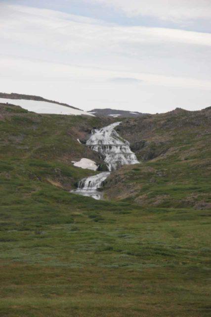 Westfjords_043_06242007 - Looking towards an impressive neighboring waterfall as we were approaching Dynjandi
