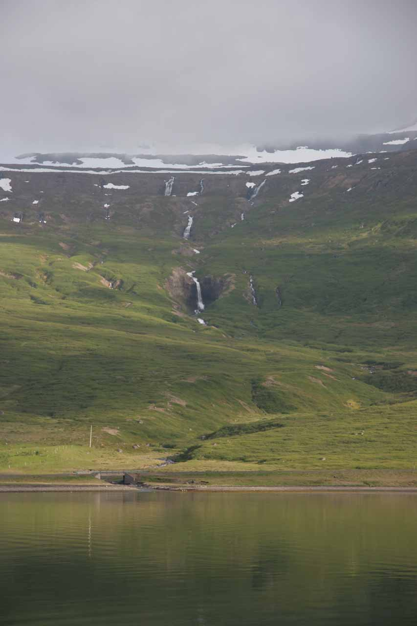 Here's another obscure waterfall we noticed as we were heading east from Ísafjörður along one of the handful of fjords we went around