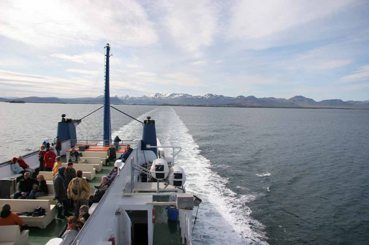 Leaving Stykkishólmur on the Baldur Ferry to the Westfjords