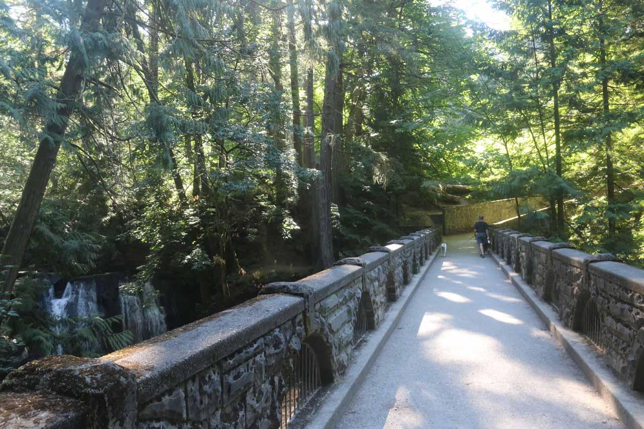 Context of Whatcom Falls and the Stone Bridge