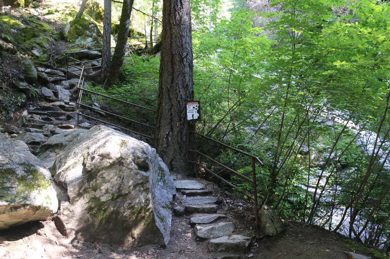 The trail continued to climb alongside the Lower Whiskeytown Falls
