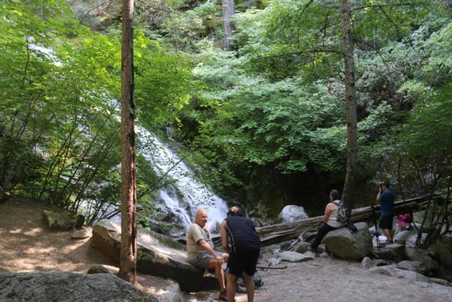Whiskeytown_Falls_064_06182016 - Context of some people enjoying the Lower Whiskeytown Falls