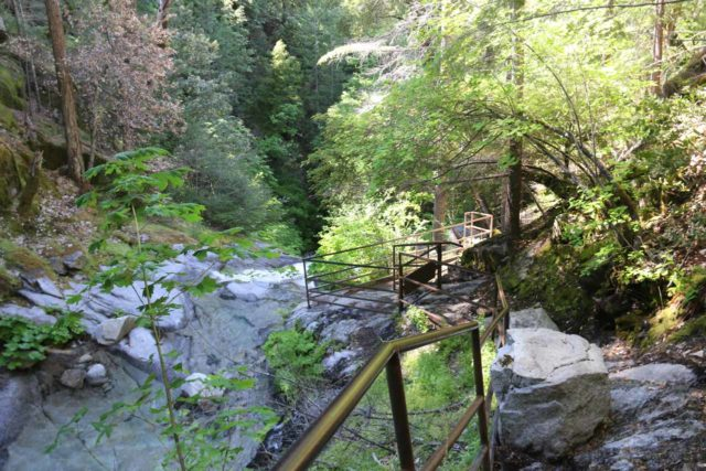 Whiskeytown_Falls_090_06182016 - Looking back at the trail alongside the Upper Whiskeytown Falls