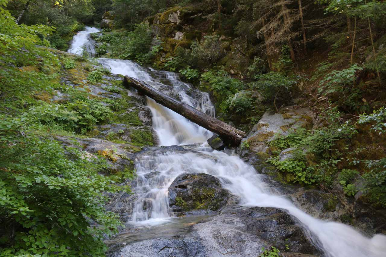 This was the view of the Upper Whiskeytown Falls from the end of the official trail