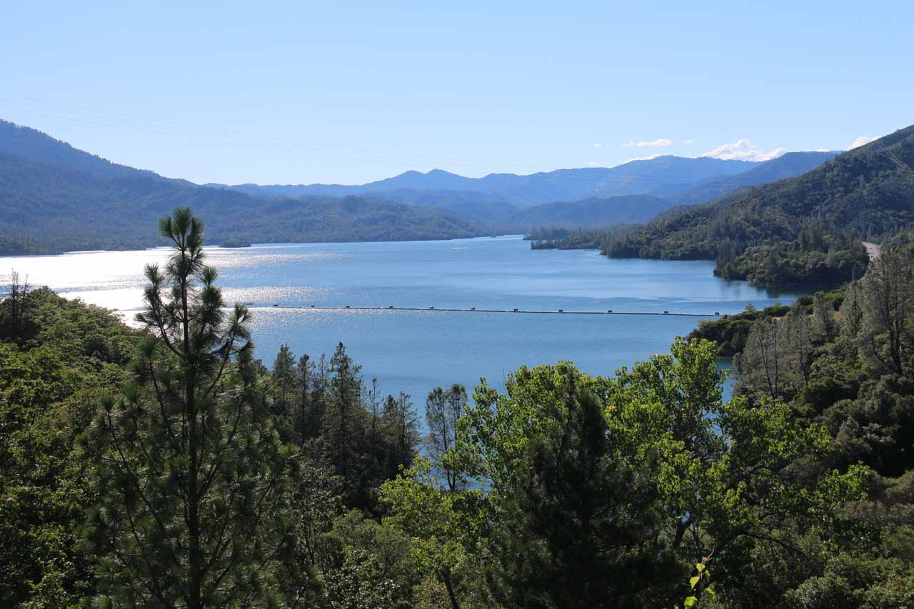 Potem Falls was about 30 miles east of Redding, which itself was only a few miles east of Whiskeytown Lake shown here. We noticed this lake was a hit with boaters and water skiiers