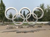 Whistler_008_iPhone_08012017 - Frontal view of the popular Olympic rings in the Whistler Olympic Village