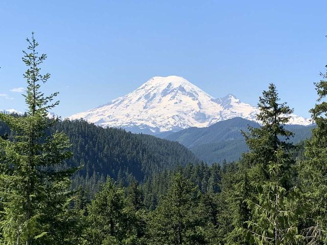 White_Pass_009_iPhone_06212021 - Walupt Falls sits in a remote area between Mt Rainier (pictured here) and Mt Adams