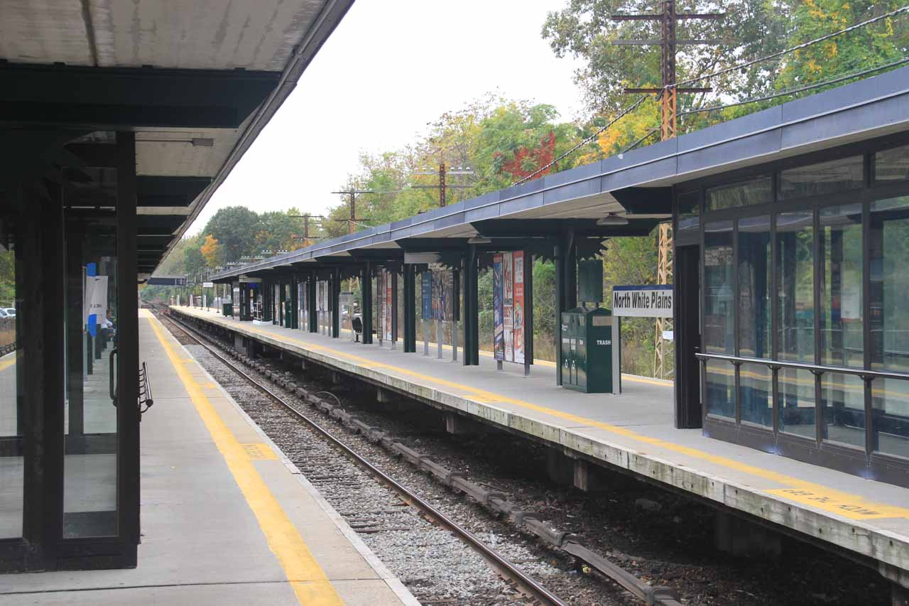 The White Plains North Station just across the street from the Hertz