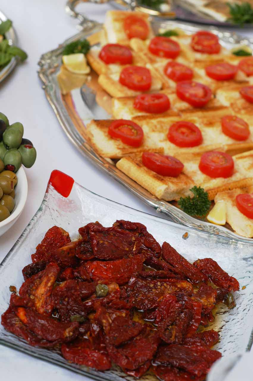 Delicious Italian appetizers Tuscan style