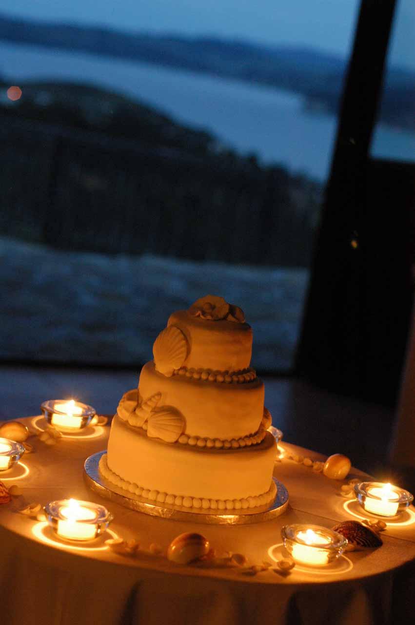 Wedding Cake and Candlelight