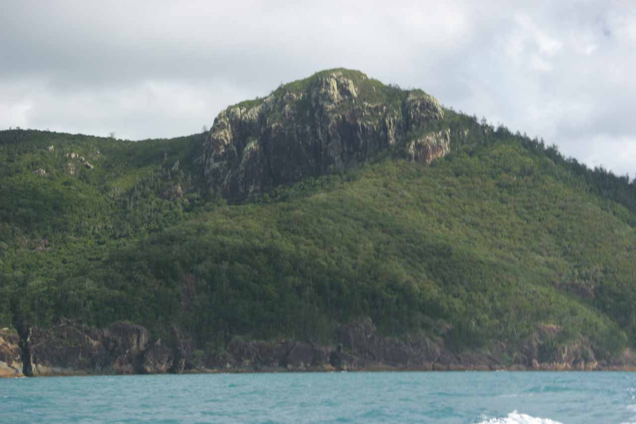 Some shapely mountain on the way to the Whitsundays