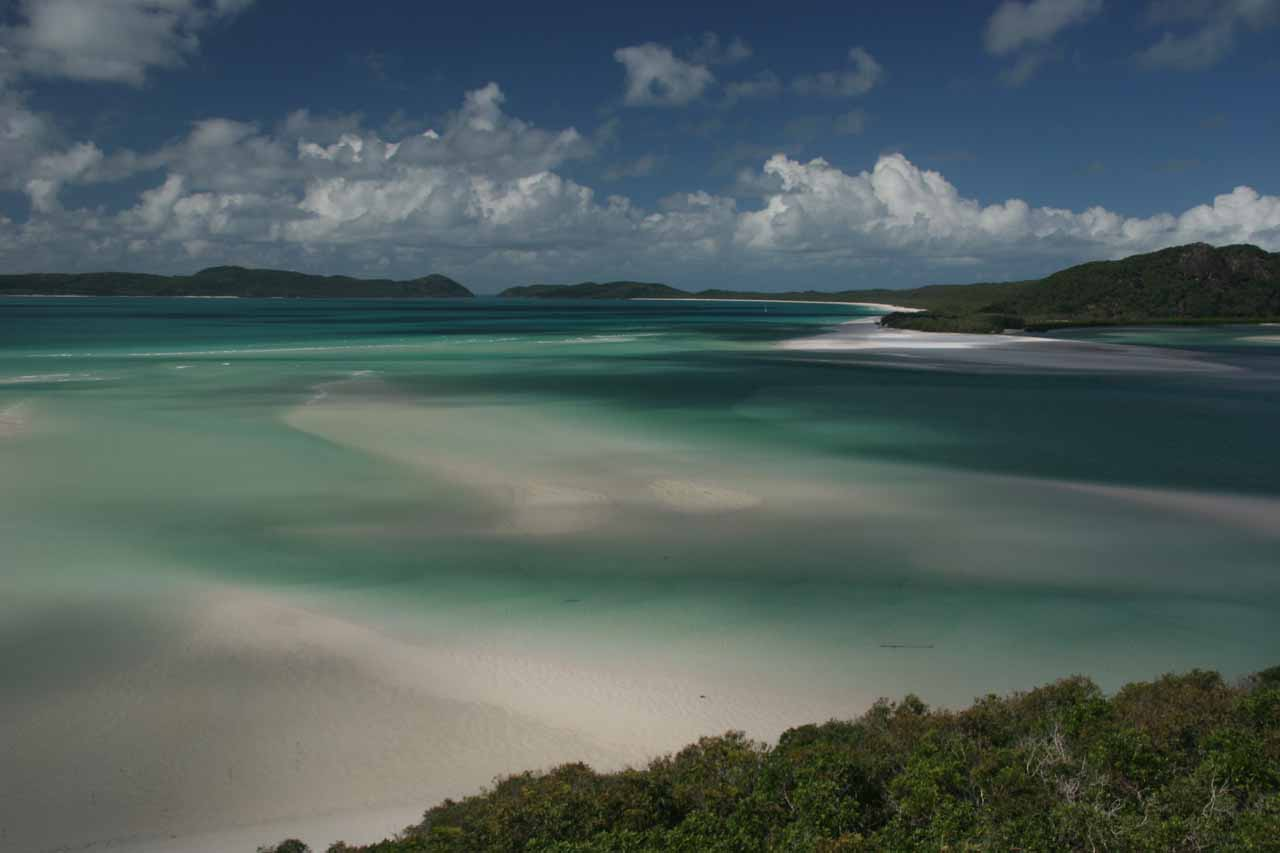 The overlook at Whitsunday Island