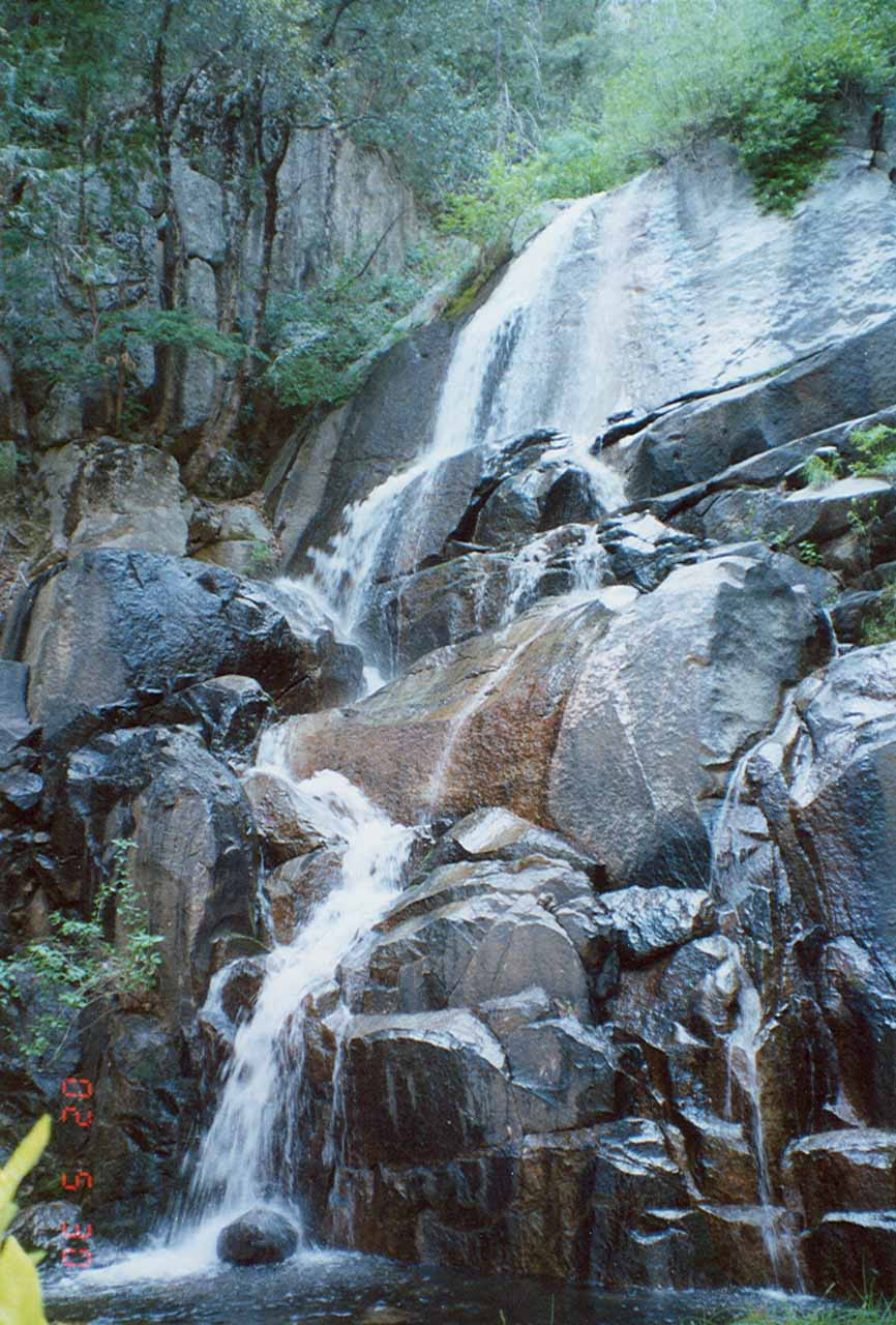 The base of Wildcat Falls in June 2002