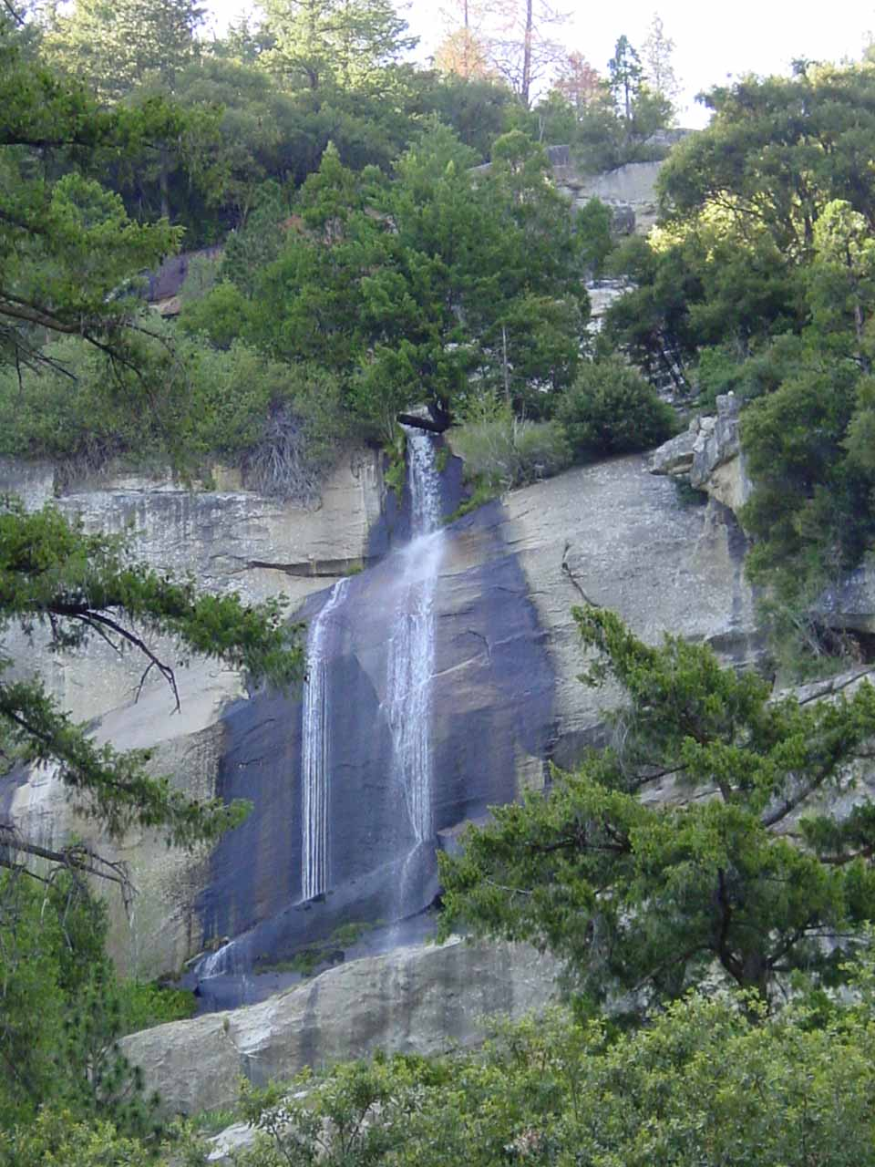 The upper section of Wildcat Falls as seen in June 2002
