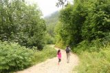 Wildenstein_Waterfall_089_07102018 - Julie and Tahia still on the lookout for more wild raspberries along the Wildenstein Waterfall Trail as we made our way back from the waterfall
