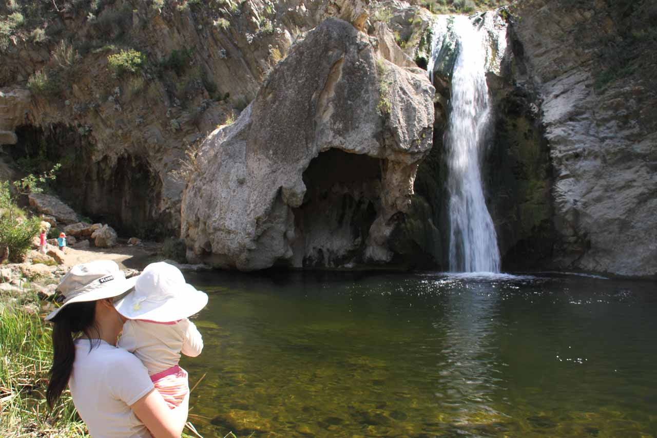 Julie and Tahia checking out Paradise Falls (Wildwood Falls) in Thousand Oaks