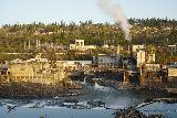Willamette_Falls_035_04062021 - Looking directly across the Willamette River towards the unsightly paper mill as seen from the Willamette Falls Scenic Viewpoint in early April 2021