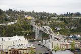 Willamette_Falls_Promenade_087_04072021 - Looking down at the Oregon City Arch Bridge from the McLoughlin Promenade