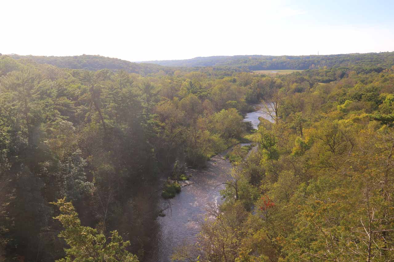Looking downstream at the Willow River from the upper lookout