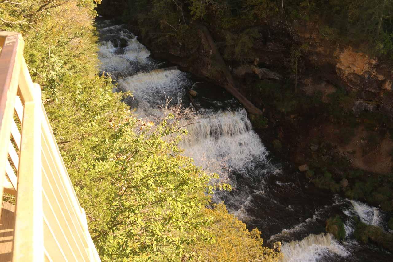 Looking down at Willow Falls