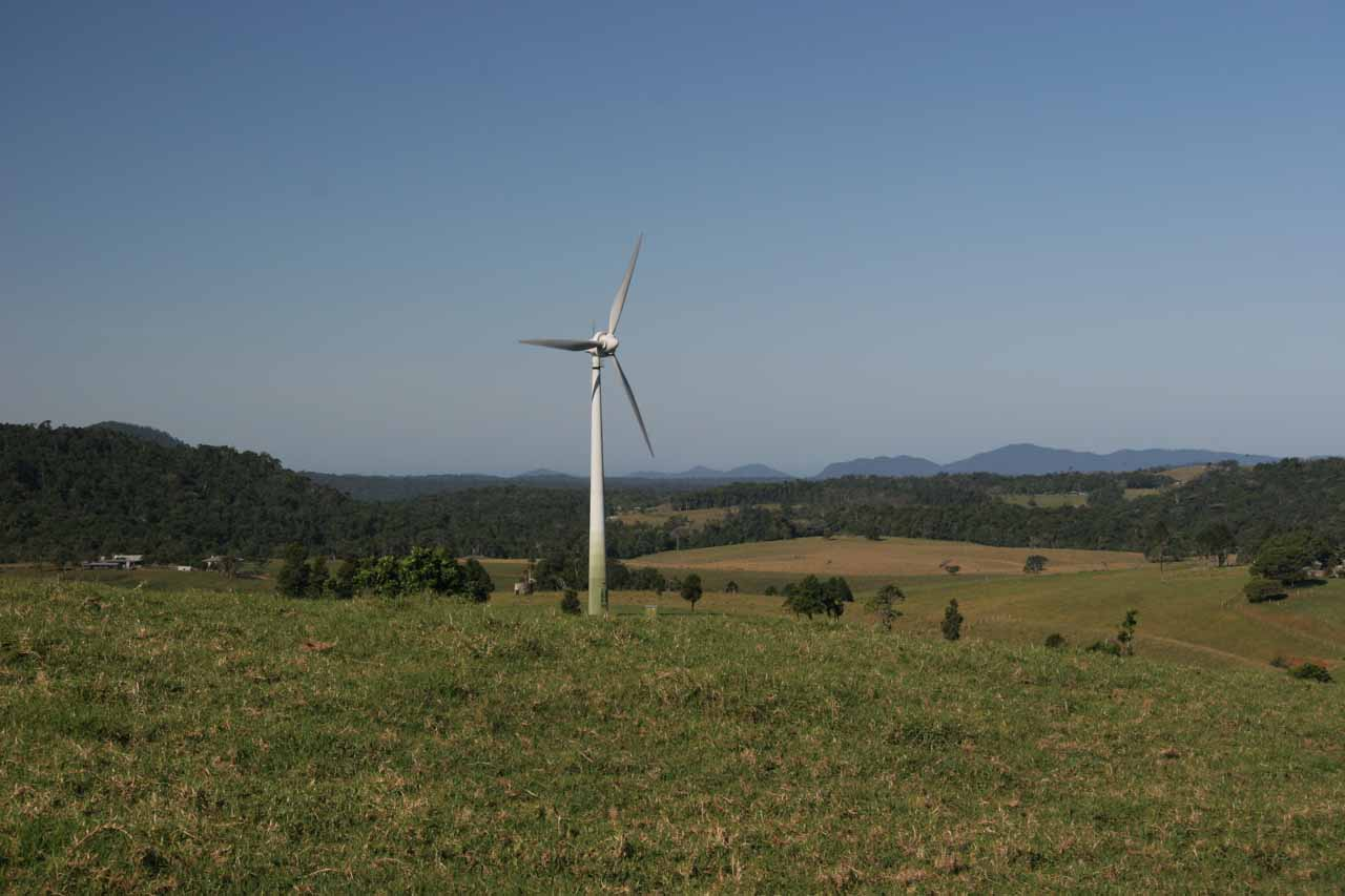 Along the Kennedy Highway east of Ravenshoe was the impressive Atherton Wind Farm