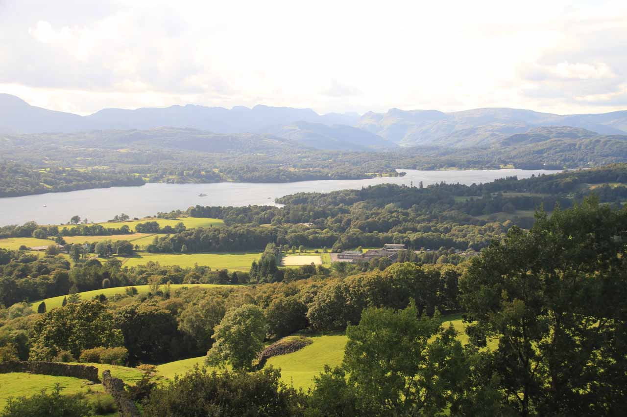 Looking towards the other end of Windermere from Orrest Head