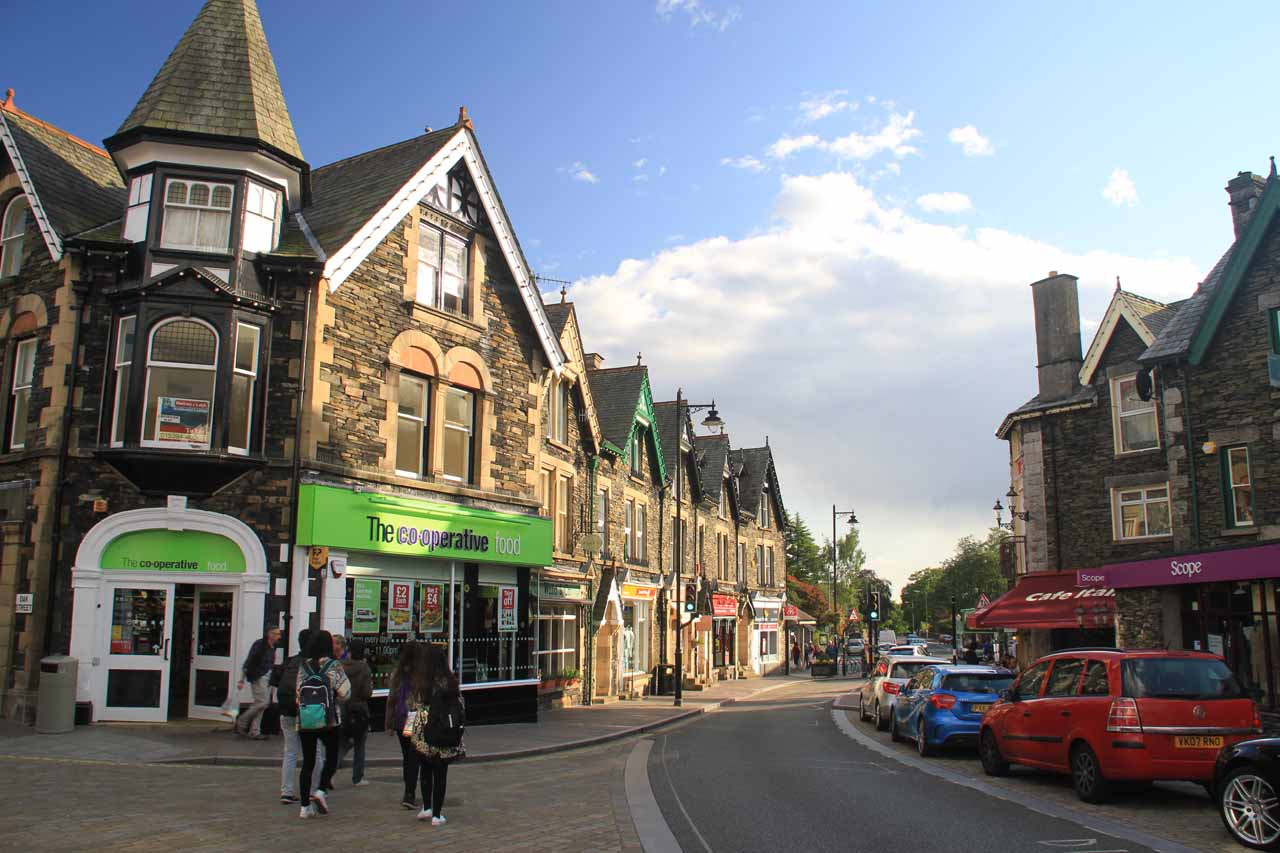The town centre of Windermere seemed charming
