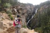 Woodbine_Falls_093_08092017 - Julie and Tahia managed to scramble up to the first of the informal lookouts so they could have a more satisfying experience with Woodbine Falls