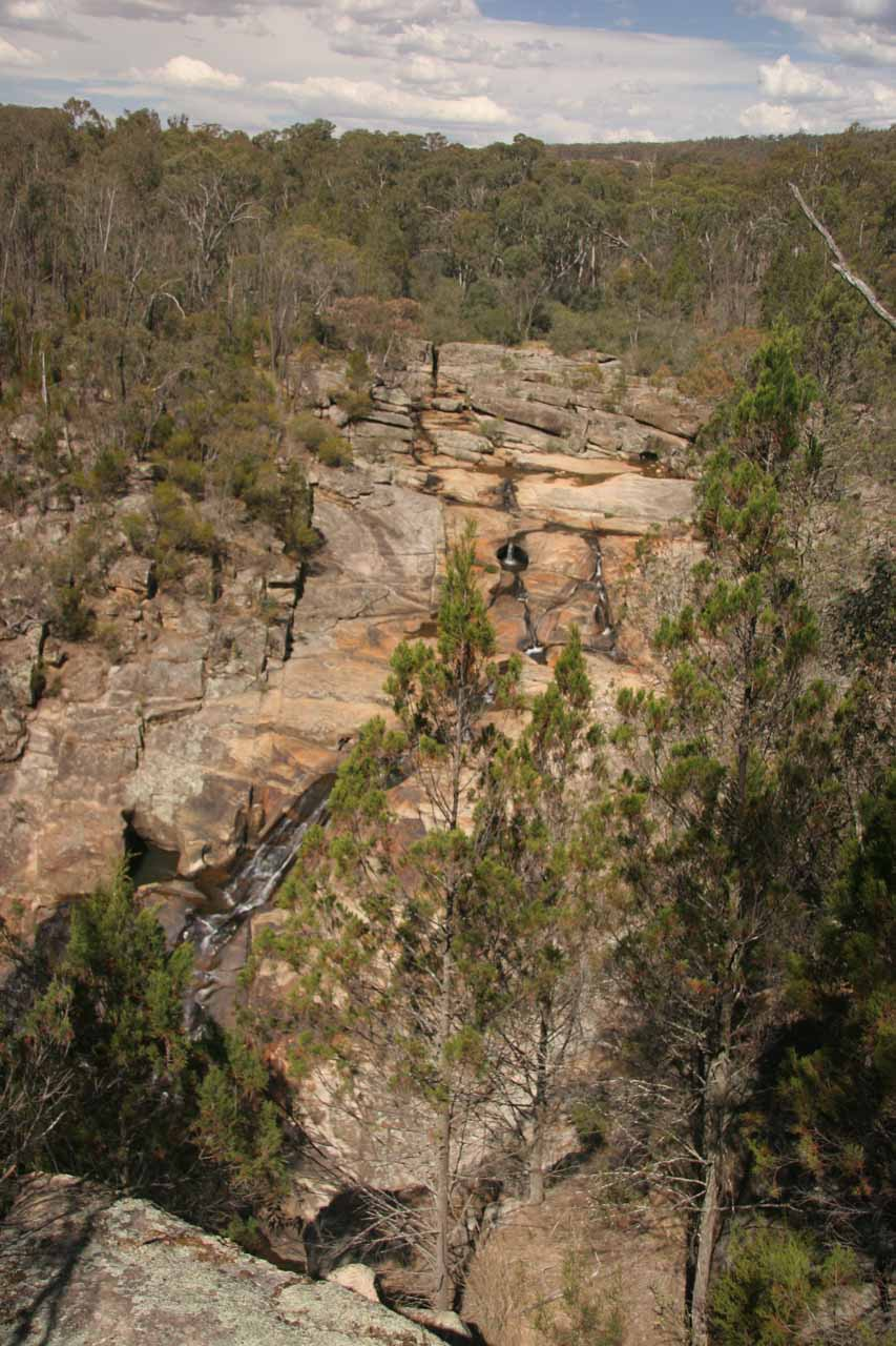 This was what Woolshed Falls looked like from the viewing platform on our first visit back in November 2006
