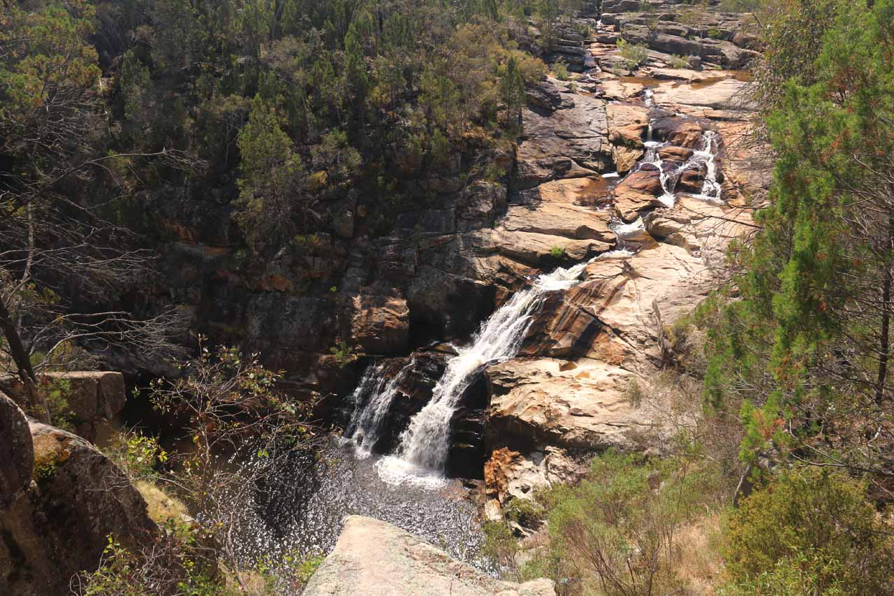 This was the view from the Woolshed Falls Lookout