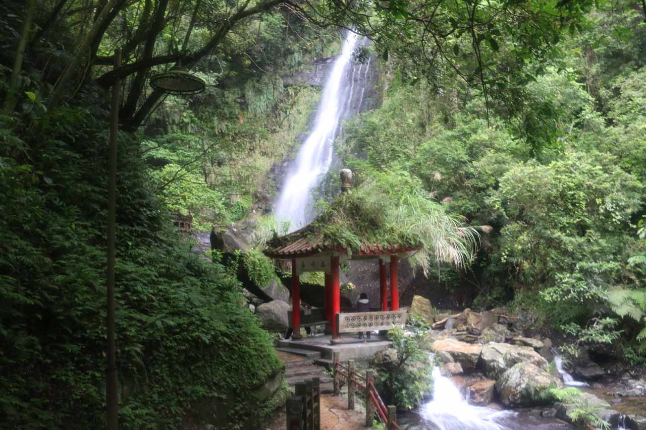Approaching the second Wufengchi Waterfall