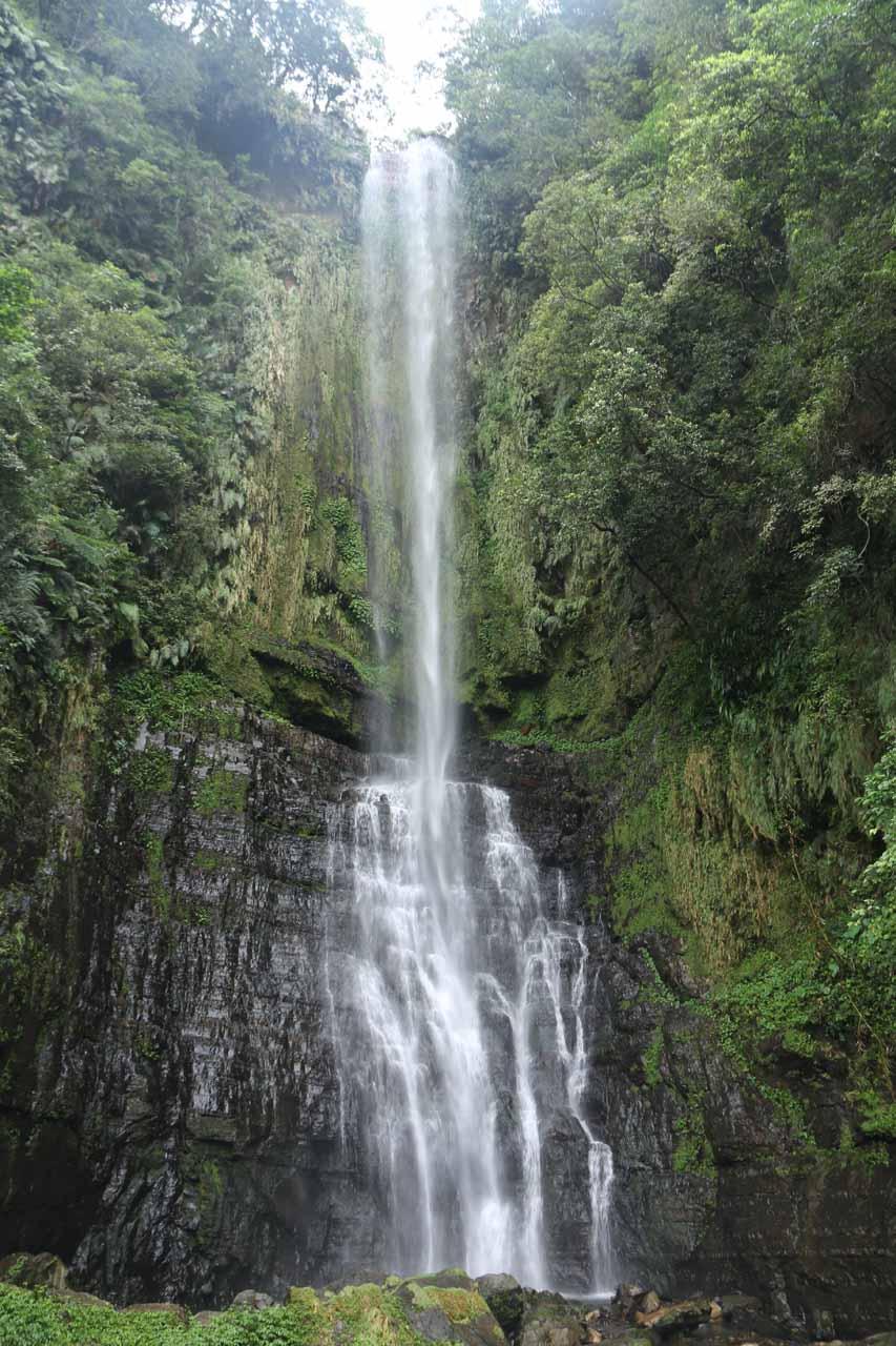 The Wufengchi Waterfall or Wufengqi Waterfall