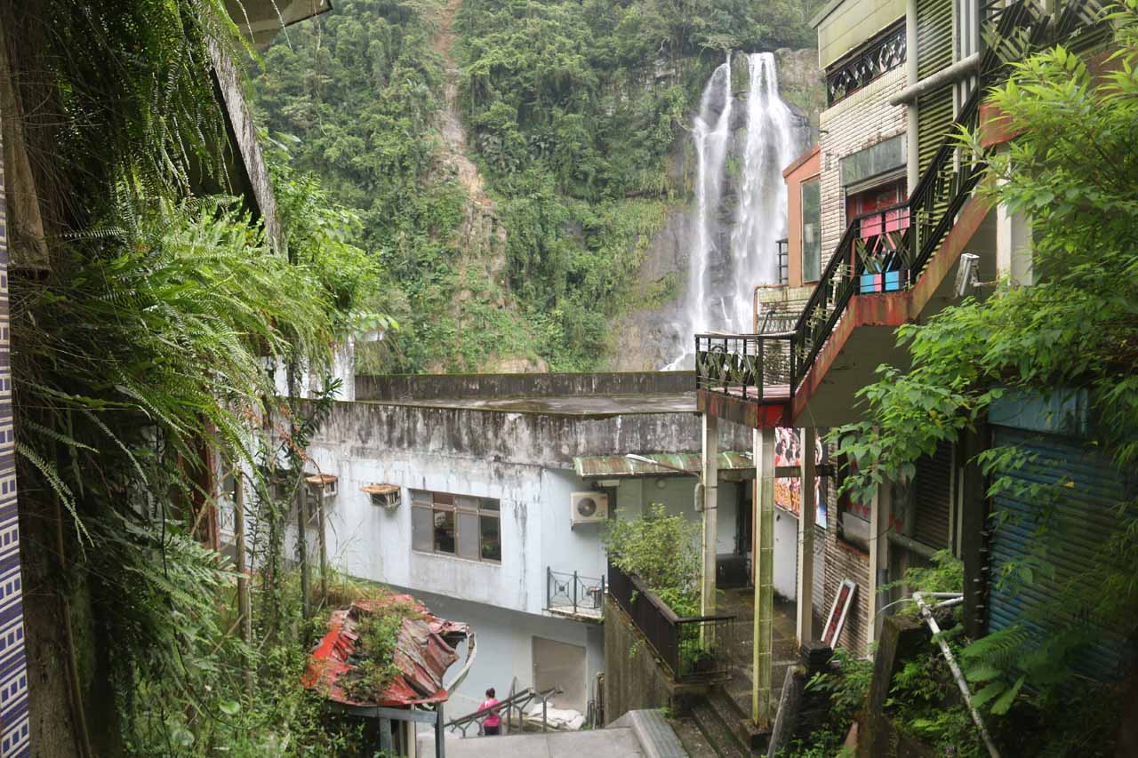 After we parked the car in Wulai, we walked down the steps to the lowest level to experience the views of the falls from down there
