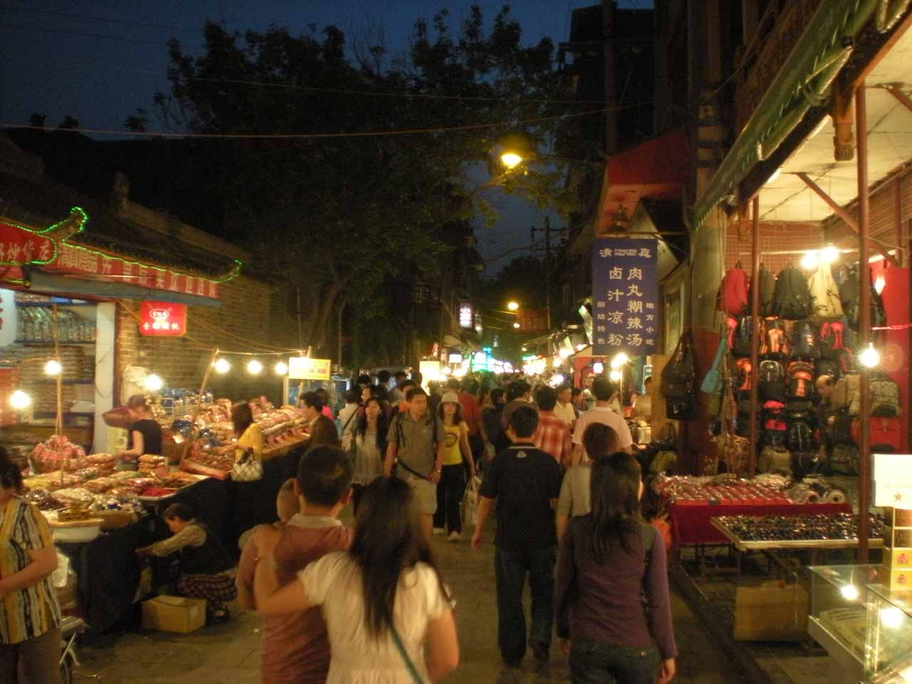 The night markets in Xi'an were also really neat to experience