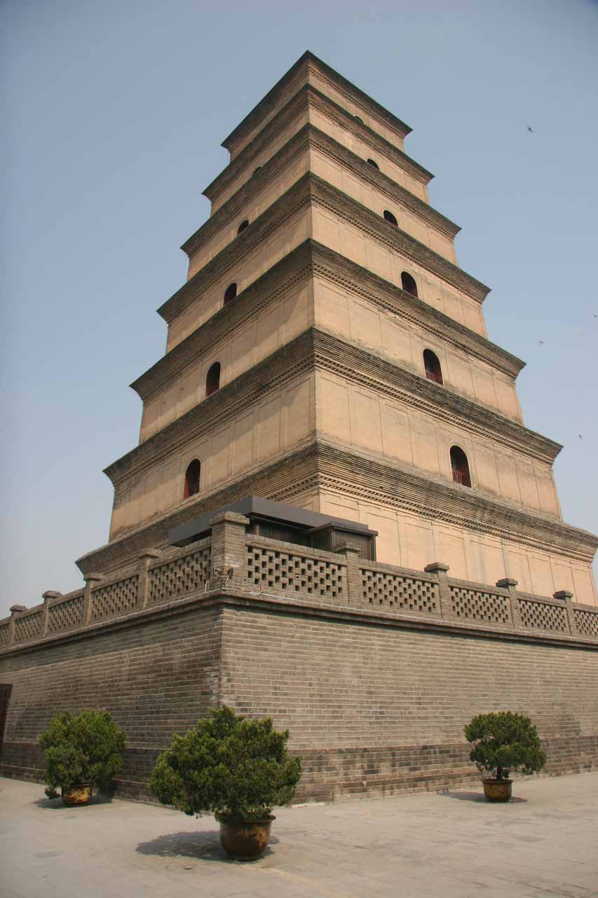 Looking up at the Big Goose Pagoda