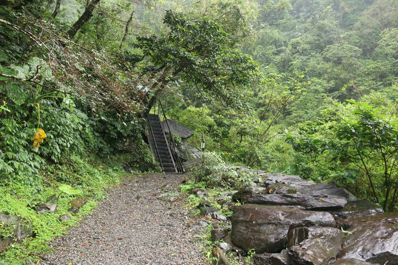 One of the few spots that weren't flat along the Xinliao Waterfall Trail