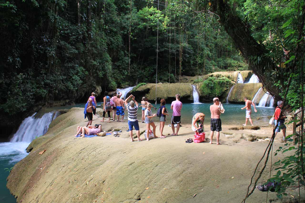 This particular pool was the dropping point for the rope swing so it was one of the more popular spots
