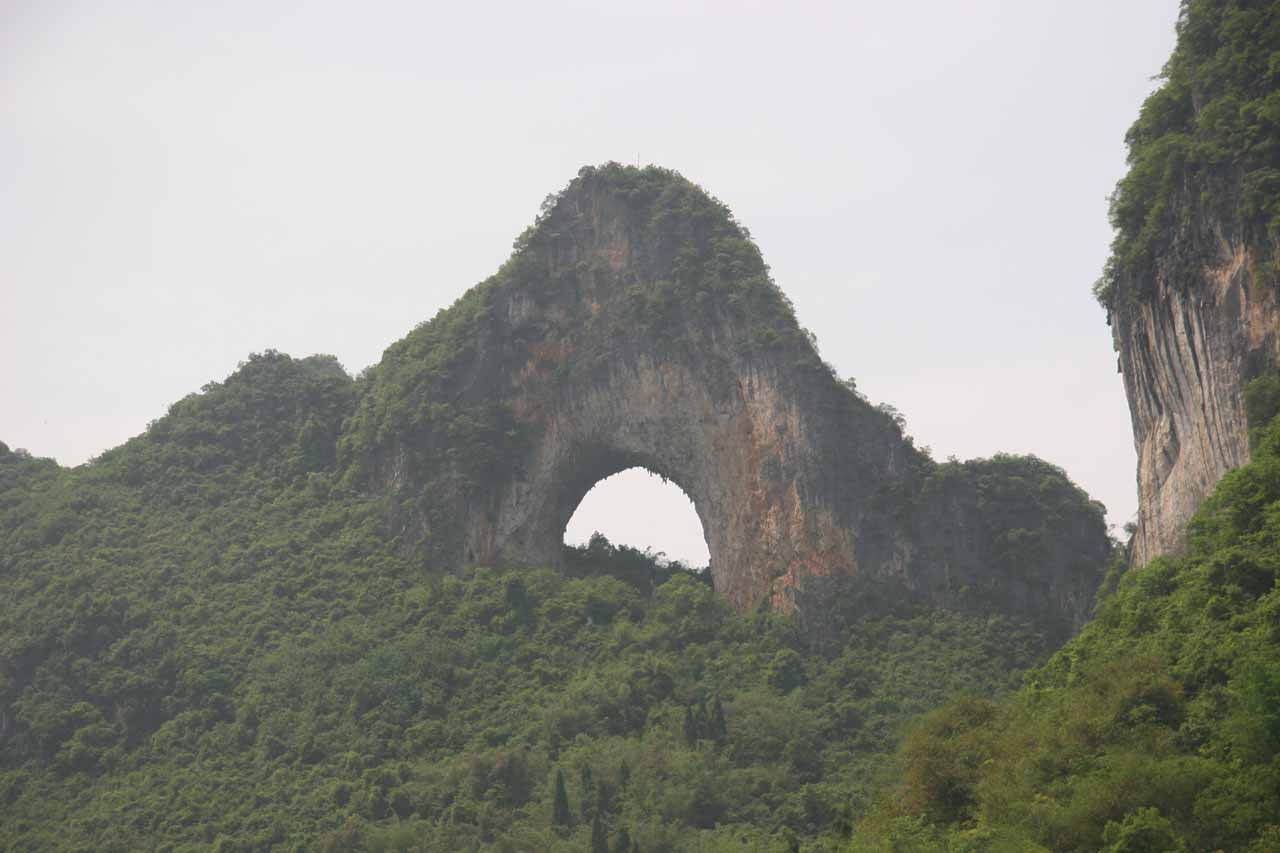 After our independent Crown Cave visit, the next day we visited this very interesting natural arch called Moon Hill near the town of Yangshuo at the southern end of the Lijiang Cruise