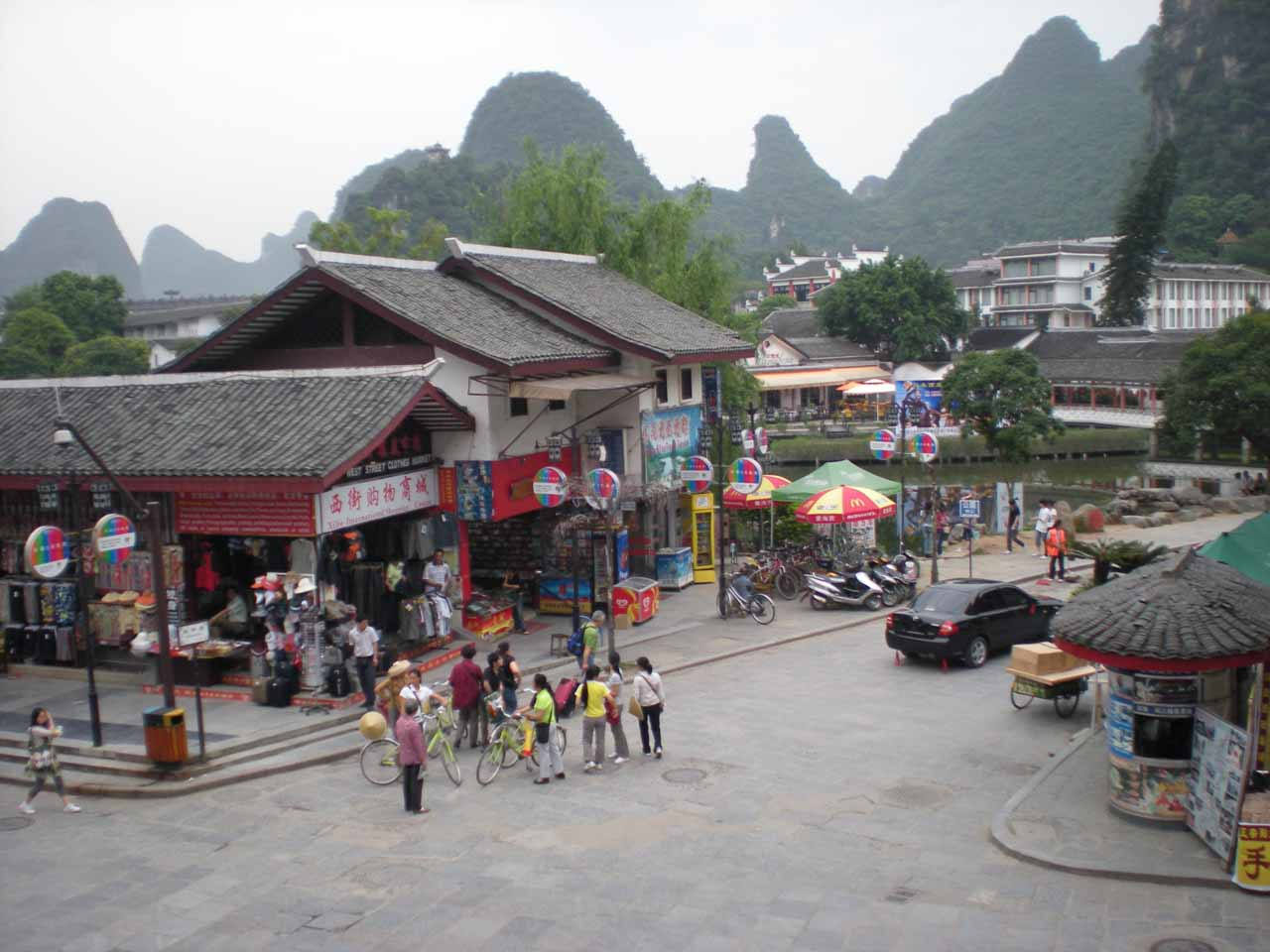 View from the Mei You Restaurant in Yangshuo