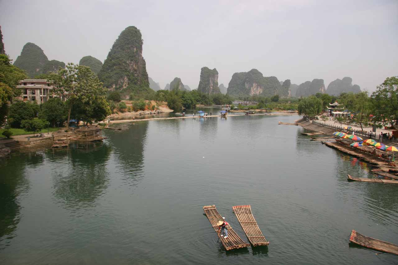 More karst scenery on the way back to Yangshuo