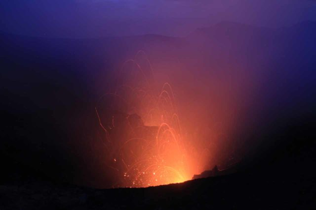 Yasur_181_11262014 - Of course the most famous attraction on Tanna Island was the unpredictable yet very active Mt Yasur Volcano seen in twilight and in the dark, which is quite different from the Hawaiian experience
