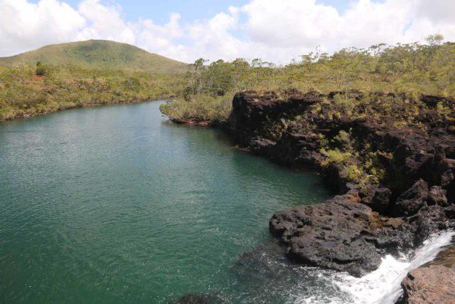 Yate_092_11292015 - Looking over the brink of la Chute de la Madeleine Waterfall