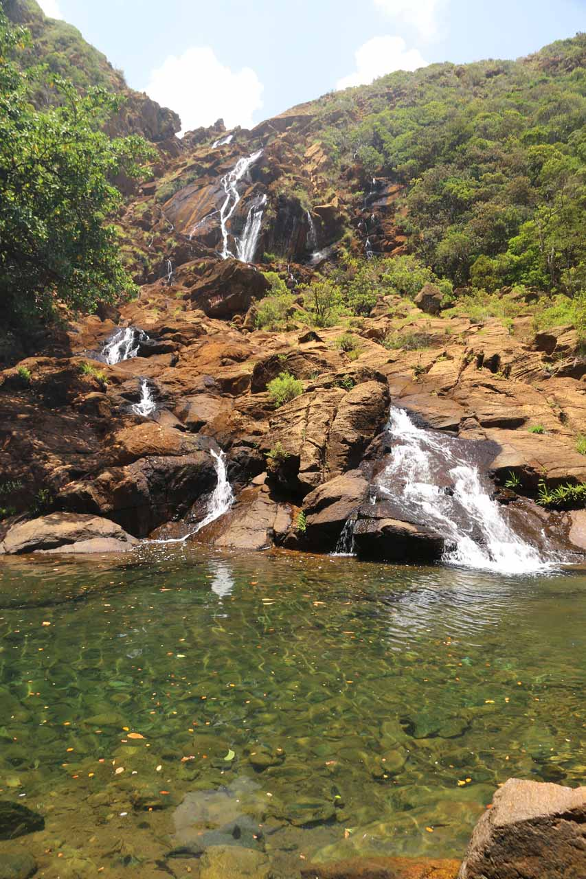 Our first look at the impressive Cascade de Wadiana and inviting plunge pool