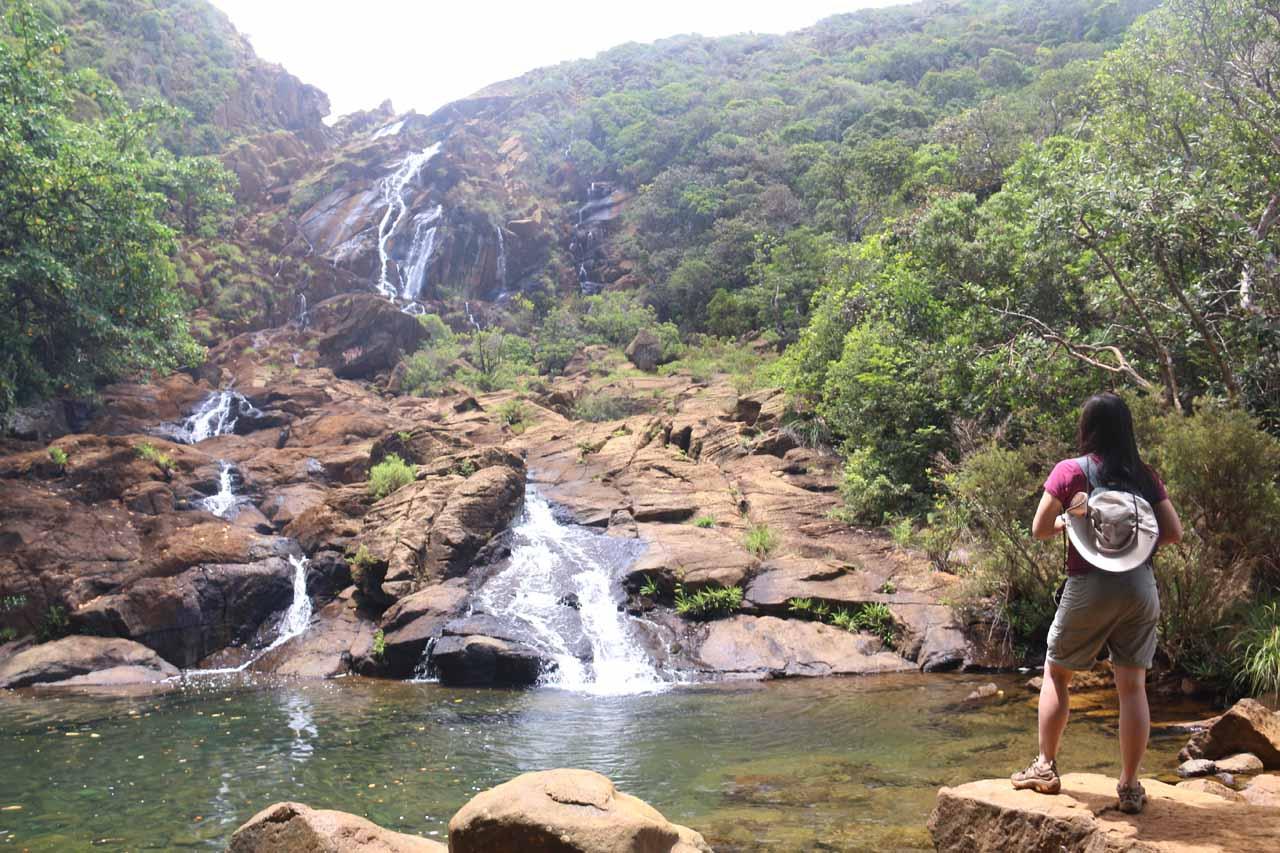 Julie checking out Cascade de Wadiana