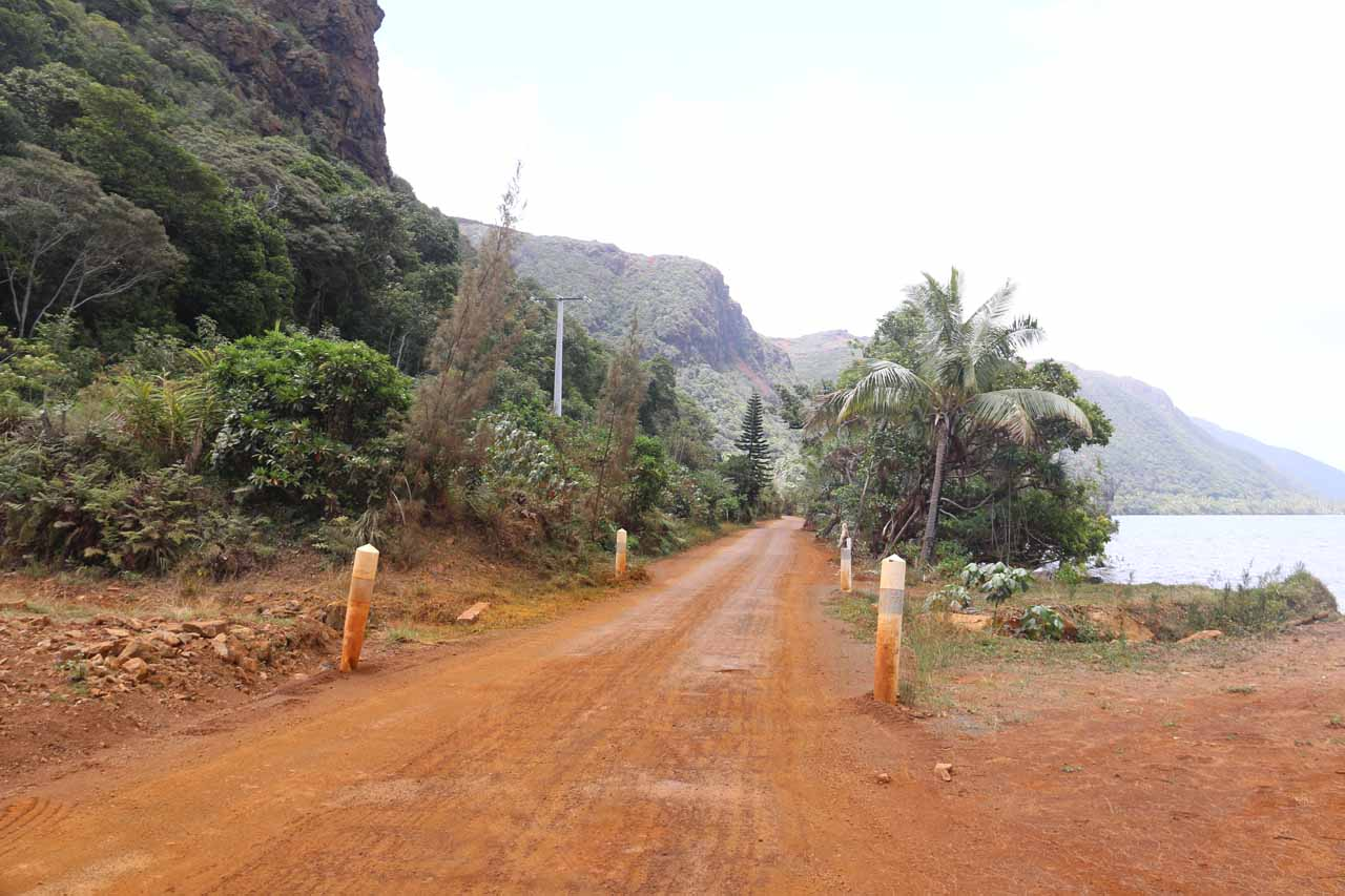 South of Cascade de Wadiana, the road continued to degenerate into a red dirt road as it passed the old nickel mine at Goro