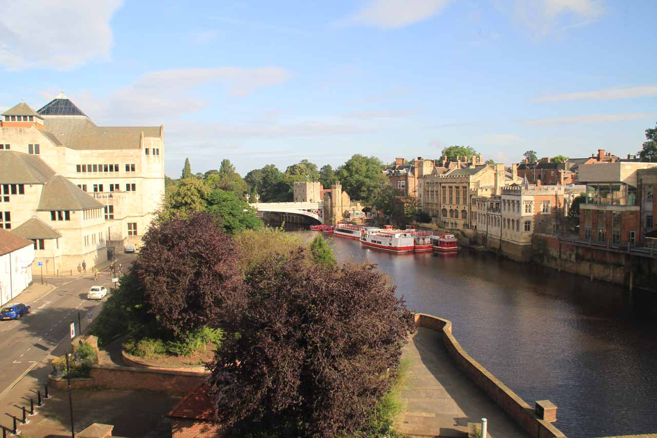 View of the River Ouse from our hotel in York